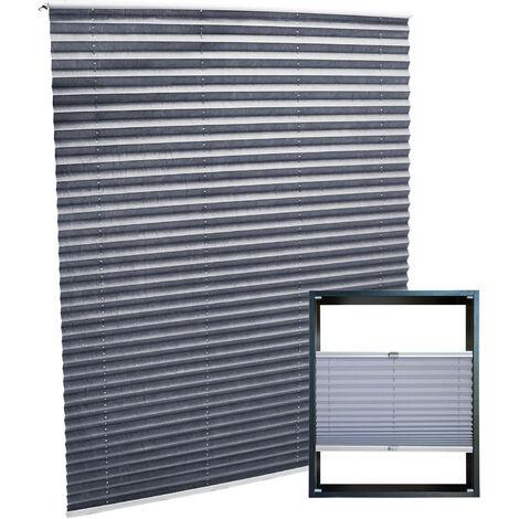 Plissee grau 80x150cm Plisseerollo als modischer Sichtschutz Faltrollo