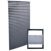 Plissee grau 80x200cm Plisseerollo als modischer Sichtschutz Faltrollo
