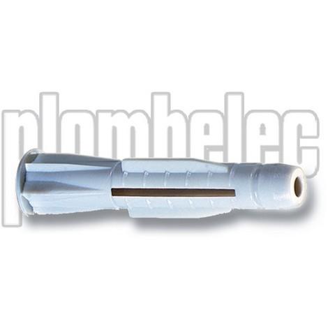 PLOMBELEC 050208 - 100 x Chevilles PLOMBATORS Ø8 x L50 mm multi matériaux pour vis VBA ou pattes à vis