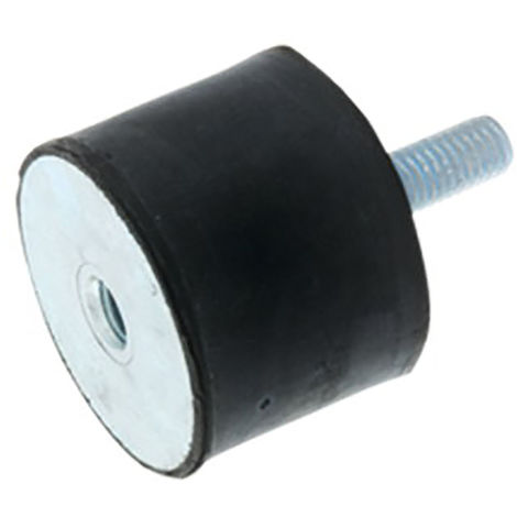 Plot anti-vibratoire RS PRO, 50mm x 35mm M10 AV Type B Caoutchouc naturel