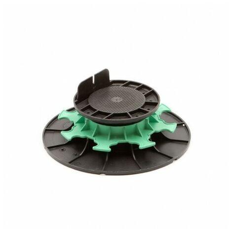 Plot H50/80mm PVC Réglables à Vérin pour Lambourdes Terrasse Bois