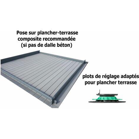 Plots de réglage plastique pour plancher terrasse composite