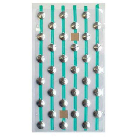 Plots podotactiles PODOKIT en aluminium strié auto-adhésifs en 4 plaques