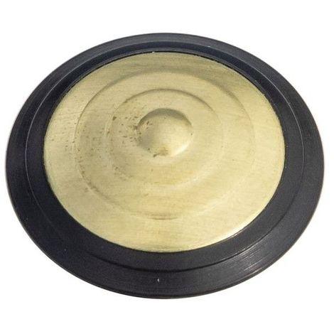Plots podotactiles PODOKIT laiton pourtour polymère noir auto-adhésifs en 1 plaque