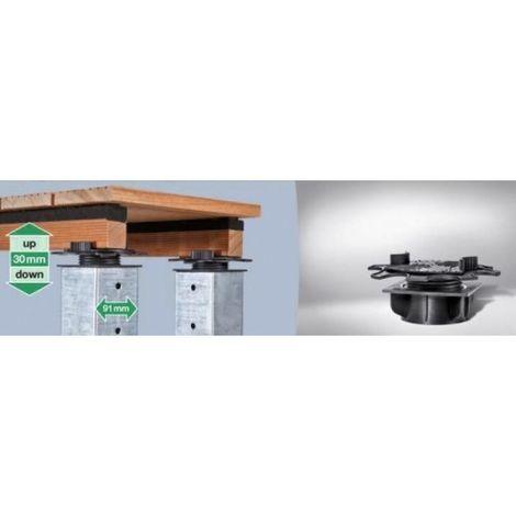 Plots réglables pour terrasse Free Lift hauteur réglable -30 à +30 mm, sachet de 3 pièces