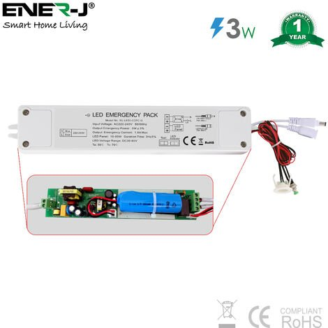 Plug and Play 5W Emergency Battery Kit for LED Panels 6W-70W
