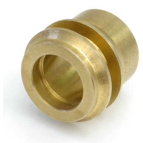 Plumbers Choice 15mm x 10mm Micro-bore Reducer Single Polished Brass