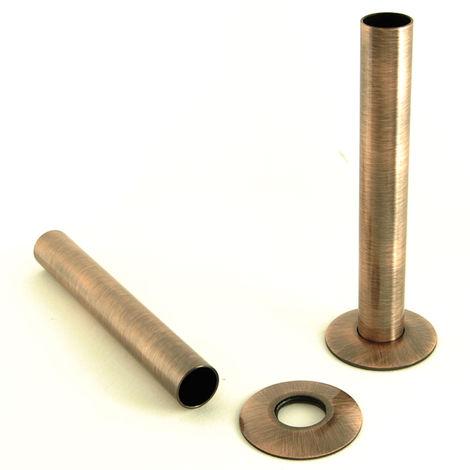 Plumbers Choice Antique Copper Brass Radiator Valve Sleeving Kit pair