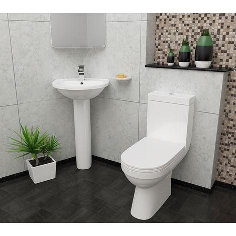 Plumbers Choice Kato Bathroom Suite - 480mm Corner Basin - 1 Tap Hole