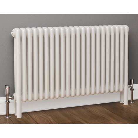Plumbers Choice Mariona White 3 Column Horizontal Radiator 750mm x 519mm