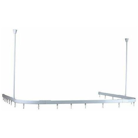 Plumbob 803109 Modular Shower Curtain Track White