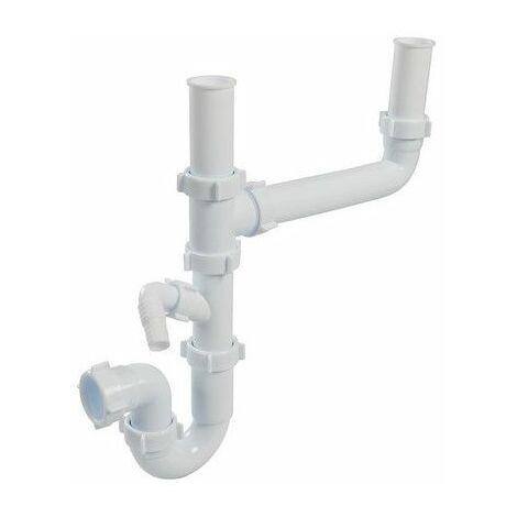 Plumbob 900829 Double-Bowl Sink Trap Kit 40mm
