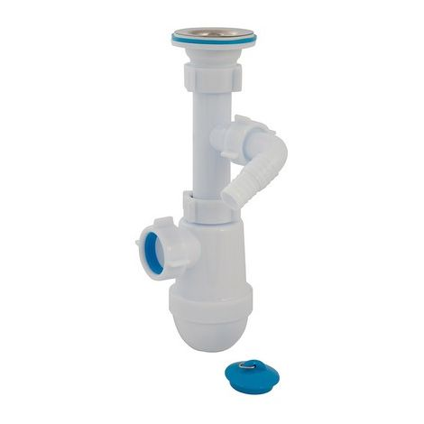 Plumbob 932988 Telescopic Bottle Trap with Waste & Washing Machine Outlet 40mm