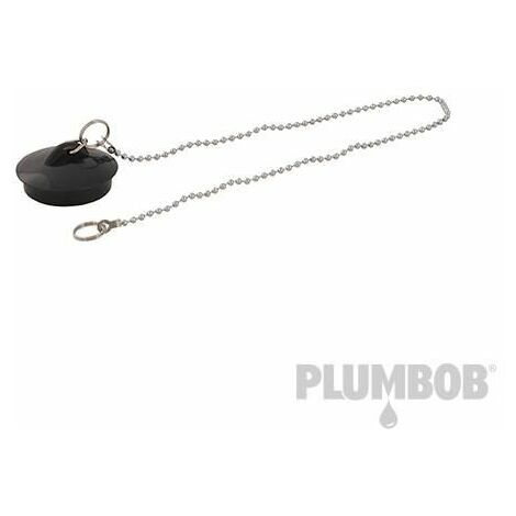 "main image of ""Plumbob PVC Basin Plug & Chain 1-1/2"" 320962"""