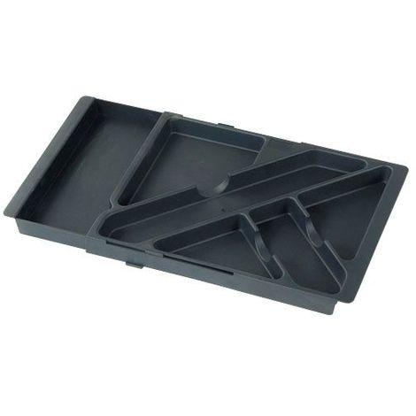 Plumier organiseur extensible pour tiroir - 6 compartiments - Décor : Noir - Profondeur : 225 mm - Hauteur : 30 mm - ITAR