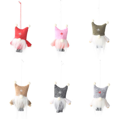 Plush Doll Hanging Decorations Christmas Gift Pink