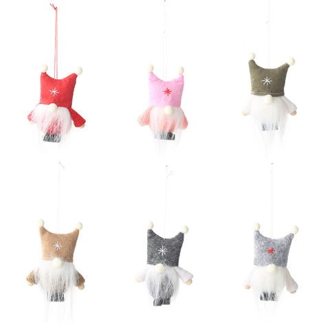Plush Doll Hanging Decorations Christmas Gift Red