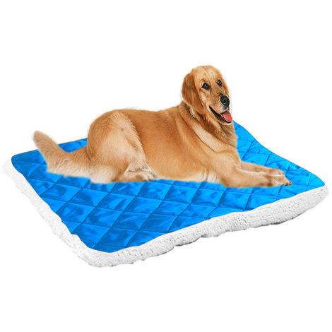 Plush Pet Mat Warm Dog Bed Kennel Cushion Blanket Blue , XL