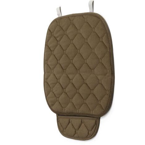 Plush Rhombus Row Car Seat Cover Small Mat Auto Chair Cushion Soft Breathable Seat Cushion(brown,1x Front Seat Cover)