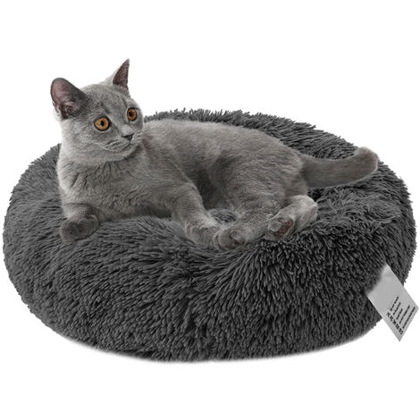 Plush round pet nest GY-01 (dark gray-60cm in diameter)
