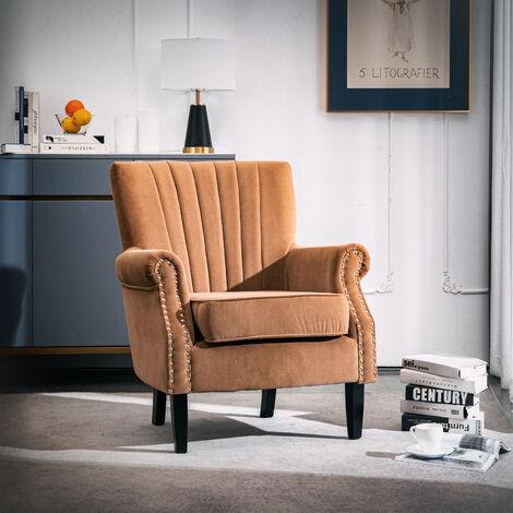 Plush Velvet Chesterfield Tub Chair Armchair