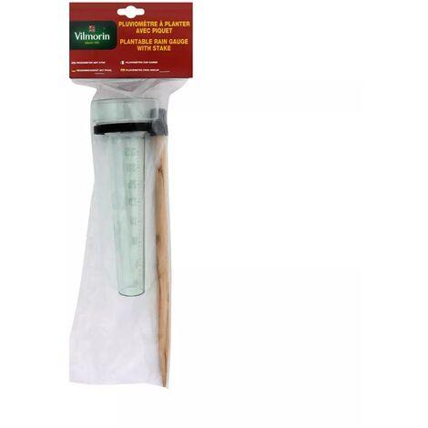 Pluviomètre à planter avec piquet bois