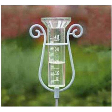 Pluviomètre avec support métal - Nature