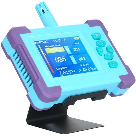 PM1.0 / PM2.5 / PM10 Calidad del Aire monitor digital analizador de gases portatil de la bateria recargable de alta precision del sensor detector de aire Inicio LED indicador de temperatura y equipos de prueba de humedad