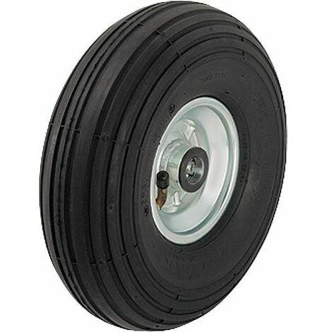 Pneu a sculpture rayure P 261/20-75R, charge 150 kg roue diam. 260mm, trou axial diam. 20mm