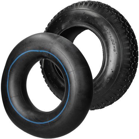 Pneu avec chambre roue brouette à air 4 BAR caoutchouc noir 4.80/4.00-8