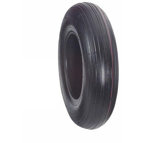Pneu de rechange pour roue de brouette - profil rainuré - 260 x 85 mmBS Rollen