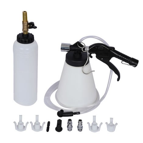 Pneumatic Brake Fluid Bleeder Vacuum Brake Bleeder Pump Air Pressure Oil exchange Kit 1 Litre