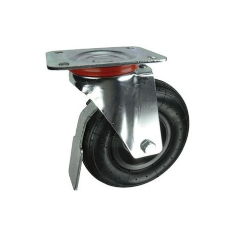 Pneumatic Wheeled Castors - Pneumatic Tyred Wheel with Pressed Steel Centre - Roller Bearing