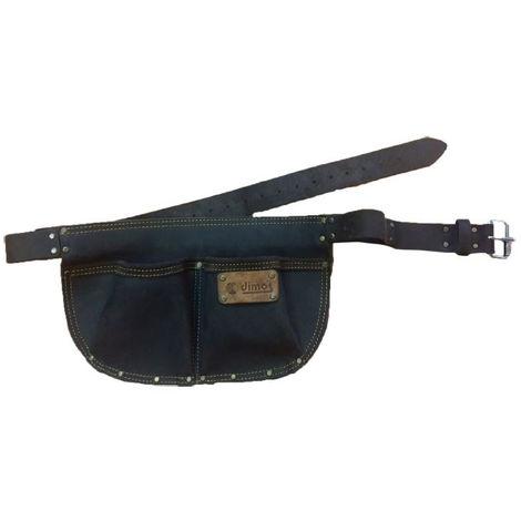 Poche à clous arrondie cuir DIMOS avec ceinture et 2 compartiments - 205736