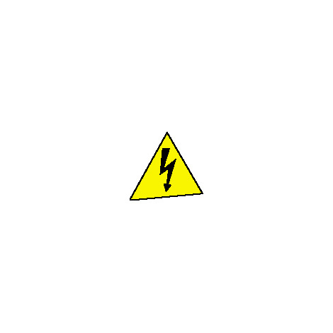 Pochette 10 étiquettes 'tension dangereuse' - autocollantes