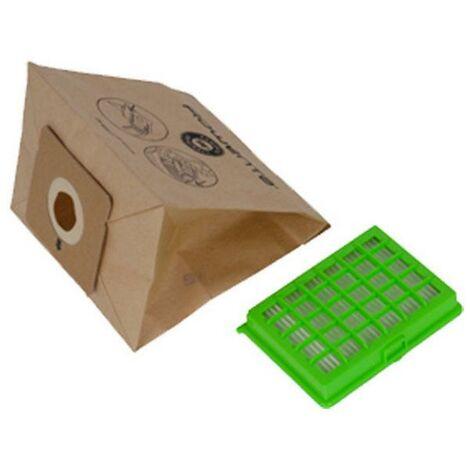 Pochette 6 sacs papier et 1 filtre HEPA (ZR004101) Aspirateur 255402 ROWENTA, MOULINEX