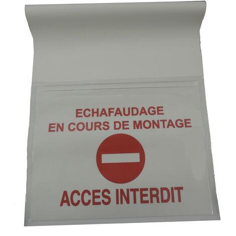 Pochette de chantier 45cm - Avec rabat arrière Blanc 36.5 x 45cm AVEC LE SENS INTERDIT - Blanc