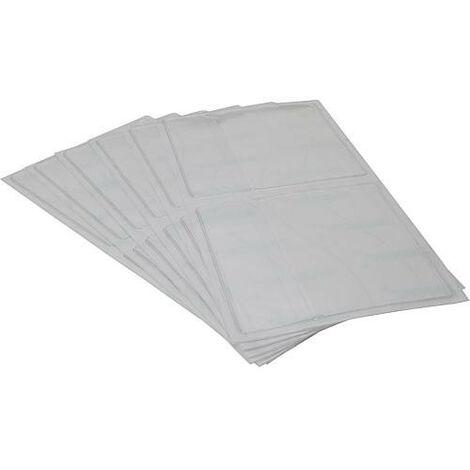 Pochettes autocollantes 11x11cm avec abattant, pour impression de protocole emballage : 20 pieces