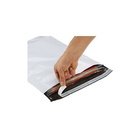 Pochettes / Enveloppes plastiques opaques 60μ 450x500 mm