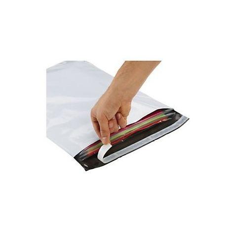 Pochettes / Enveloppes plastiques opaques 80μ 480x320 mm
