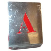 Pochoir Alphabet Lettres Capitales - Lot de 1