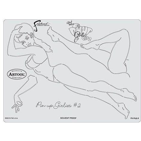 "main image of ""Pochoir Artool Pin Up Girlies 2"""