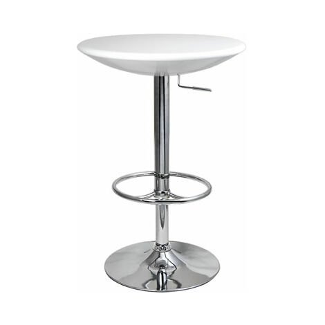 Podey Table Height Adjustable Tall Kitchen Bar Table In Black, White
