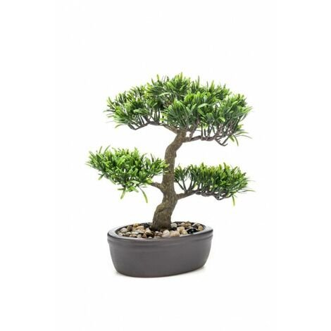 PODOCARPUS BONSAI ARTIFICIAL 32CM EN MACETA