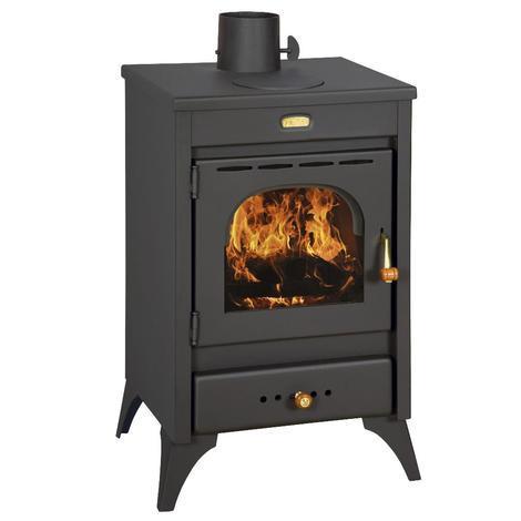 Poêle à bois 12 kW 220 m³ chauffage en acier maison chaleur KIR
