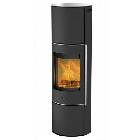 poêle à bois 5kw acier noir - k6031 - fireplace