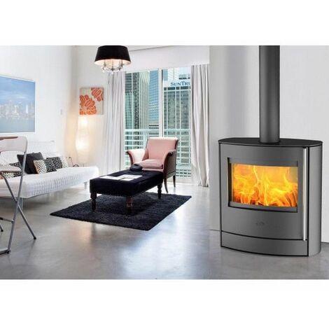 poêle à bois 7kw acier noir - k6350 - fireplace