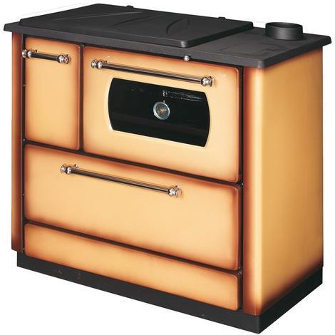 Poêle à bois avec four 9,06 kW couleur cappuccino chauffage ameublement POPULAR