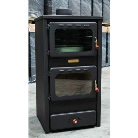 """Poêle à bois avec four. Puissance de chauffage de 8 kW. Modèle """"Kupro Lux Oven Cast"""""""