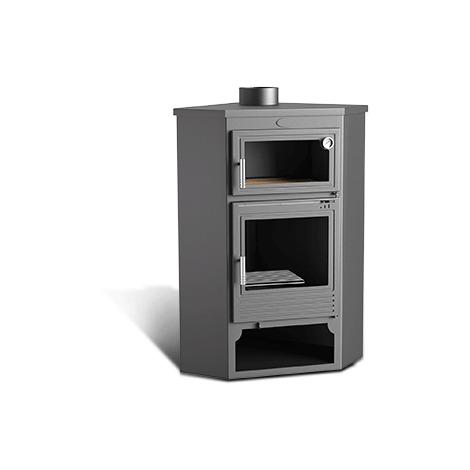 po le bois de coin avec four frontal et double. Black Bedroom Furniture Sets. Home Design Ideas